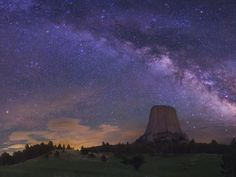 The Milky Way over Devil's Tower
