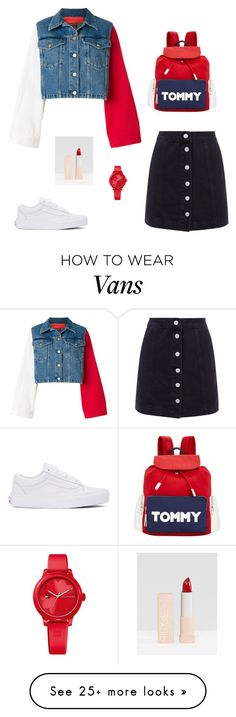 """Untitled #321"" by dariabadea on Polyvore featuring Tommy Hilfiger, Vans and Maybelline"