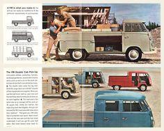 Dimensions Split VW Double Cab Pinterest Vw bus, Vw