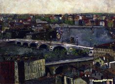 The Bridges of Toulouse Artwork by Maurice Utrillo Hand-painted and Art Prints on canvas for sale,you can custom the size and frame