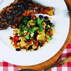 Summer Black Bean Chili With East Coast Grill Corn Bread Recipe ...