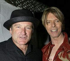 Robin Williams & David Bowie.  Laughter and Music Silenced......Oh my broken heart...... Tonga Hartzell Foster