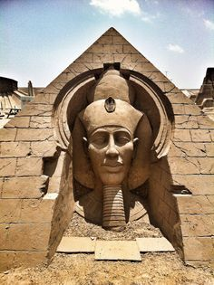 "Temple of Amenhotep IV (Akhenaten) ~ It is the prime temple here (also known as Gempateen). The ancient meaning of this name translates as: ""The Sun Disc is Found in the Estate of God Aten"". ~ Luxor, Egypt ~ Miks' Pics ""Acnient Egypt"" board @ http://www.pinterest.com/msmgish/ancient-egypt/"