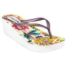Women's Jams World Wedge Flip Flop Sandals - Purple 10
