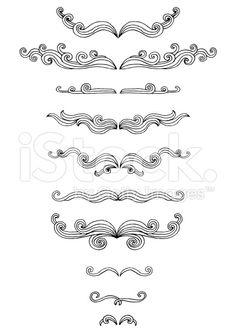 Doodle scrolls royalty-free stock vector art