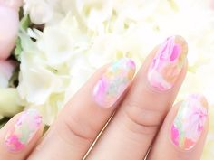 Floating in Flowers Bridal Nails, Wedding Nails, Pink Nail Art, Cute Nails, Fashion Beauty, Flowers, Inspire, Inspiration, Bride Nails