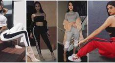 33 Outfits con Pantalón Deportivo para un look Casual (2018) Outfits Pantalon Negro, Color Verde Militar, Color Negra, Dory, Jeans, Detox, Nails, Dresses, Summer