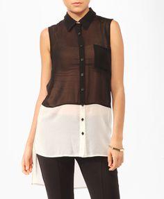 Sleeveless Colorblocked Shirt | FOREVER21 - 2000045435
