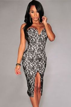 Wanna have a stunning look for every occasion get our gorgeous, Maxi Dress. Make a great statement with the perfect heels. Pretty Prom Dresses, Prom Party Dresses, Black Lace Midi Dress, Lace Dress, Sexy Evening Dress, Evening Dresses, Cheap Dresses, Girls Dresses, Vestido Strapless