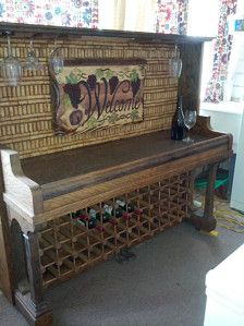 piano made into a wine bar - Google Search