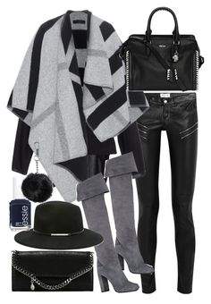 """""""Untitled #19369"""" by florencia95 ❤ liked on Polyvore featuring Yves Saint Laurent, ISABEL BENENATO, Burberry, Alexander McQueen, Prada, Forever 21, Essie, Topshop and STELLA McCARTNEY"""