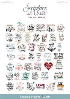 Scripture SVG Bundle LoveSVG.com Preview-02 Cricut Tutorials, Cricut Ideas, Cricut Creations, Svg Files For Cricut, Svg Cuts, E Design, Cutting Files, Bible Verses, Scriptures