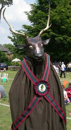 """The Llantrisant Mari Lwyd broke the law at the Banbury Hobby Horse Festival - along with a whole host of startling creatures this week. A local act which dates back to the 17th Century forbids men to dress up as animals - and it has never been repealed."""