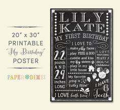 PERSONALIZED & CUSTOM 20x30 My Birthday Digital by PaperDimeDesign, $25.00