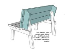 bench that turns into a picnic table plans ana white Folding Picnic Table Plans, Build A Picnic Table, Folding Tables, Picnic Tables, Bench Plans, Wood Plans, Desk Plans, Outdoor Seating, Outdoor Chairs