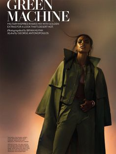 visual optimism; fashion editorials, shows, campaigns & more!: green machine: grace mahary by bryan huynh for fashion canada april 2015