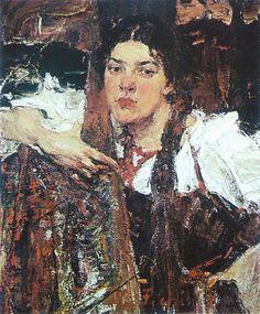 Александра (в сарафане). Николай Фешин