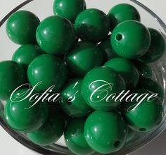 20mm Chunky Dark Green Beads 20mm Chunky Dark by SofiasCottage, $1.75