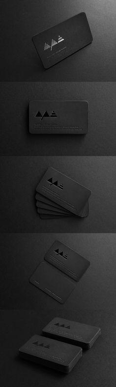 Black on black. A simple and minimal business card design for Ape. Letterpress with black foil. Printed on Fedrigoni Sirio pearl black 700 GSM duplexed.       #businesscards    #design    #businesscarddesign