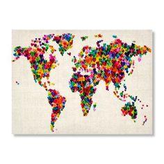 Hearts World Map.