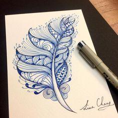 341 отметок «Нравится», 4 комментариев — Lisa Chang (@lisa565998) в Instagram: «#feathers #artist #artwork #drawing #art #colorful #color»