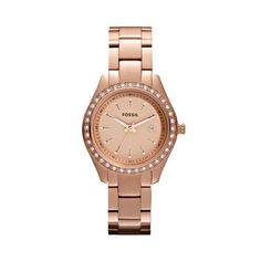 $125.00 FOSSIL® Watch Styles Rose Watches:Watch Styles Stella Mini Stainless Steel Watch - Rose ES3196