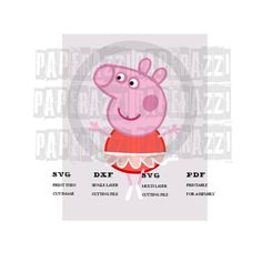 Peppa Pig SVG DXF Electronic cutting files for Cricut Design Space - Silhouette Studio by PapperazziCo on Etsy