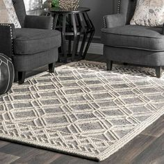 You'll love the Bonifacio Geometric Handmade Tufted Black/White Area Rug at Wayfair - Great Deals on all Rugs products with Free Shipping on most stuff, even the big stuff. Trellis Rug, Area Rugs For Sale, Rugs Usa, Contemporary Rugs, Online Home Decor Stores, Online Shopping, Grey Rugs, White Area Rug, Colorful Rugs