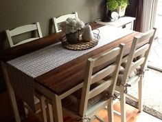 Materials:Jokkmokk I run a small business on the side restoring and painting antique furniture. I was looking for a new kitchen table set for myself but could not find an antique one that fit the vision I had in mind. I came across this Ikea piece and thought what a challenge it would be… turn [&hellip