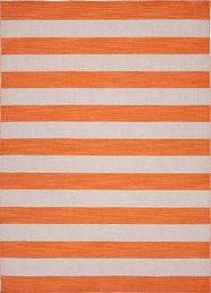 RugStudio presents Jaipur Rugs Pura Vida Dias Pv44 Vermillion Orange Flat-Woven Area Rug