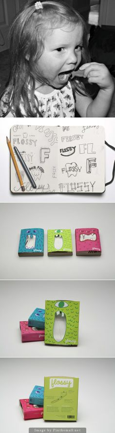 Flossy: how to get kids to floss their teeth #packaging curated by Packaging Diva PD created via https://www.behance.net/gallery/Flossy/7593993