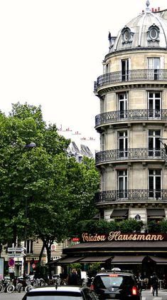 Boulevard Haussmann, Paris, France by Grangeburn