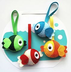 DIY Plush Felt Fish this sewing pattern is available for purchase.. photo inspiration