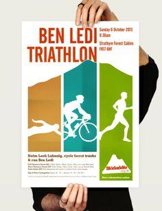 Skidaddle Ben Ledi Triathlon poster design