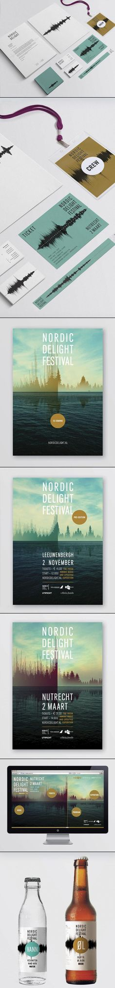 Nordic Delight Festival - Corporate Identity by CLEVER°FRANKE