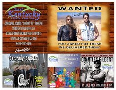 Tickets will be on-sale this morning at 10:00 am for Chicago on Sept 27 and Brantley Gilbert on Dec 6!!!  Tickets will be available at our Appalachian Wireless Box Office, www.ticketmaster.com or charge by phone at 1-800-745-3000!!!  Tickets are already on-sale for Sundy Best in the new Riverfill Arena on Aug 31 and Sesame Street Live on Nov 25 and 26!!!  Don't miss out on all the fun and excitement at the East Kentucky Expo Center!!!
