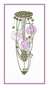 Art Nouveau Charles Rennie Mackintosh Lavender Rose counted cross stitch chart