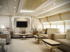 private jet is a palace in the sky Boeing VIP, I mean, just look at this lounge!Boeing VIP, I mean, just look at this lounge!