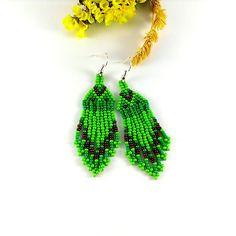 Lime green earrings Lime earrings Green earrings Ladies by Galiga