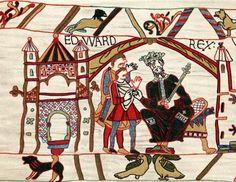 Edoardo il Confessore, anglosassone re d'Inghilterra.  Dal Arazzo di Bayeux, che racconta la storia degli eventi che hanno portato al 1066 battaglia di Hastings.  (Photo by Ann Ronan Pictures / Print Collector / Getty Images)
