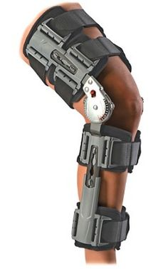 DONJOY X-ACT ROM POST-OP KNEE BRACE - Provides secure and stable support for post-op knee indications : ACL reconstruction, ligament surgery (PCL, MCL, LCL), cartilage repair, patella realignment, tendon rupture repair & partial knee replacement.