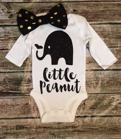 Elephant Onesie, Little Peanut Onese, Baby Girll Onesie, Girls Shirt,Baby Girl… Baby Shower Gifts For Boys, Baby Boy Shower, Cute Baby Clothes, Babies Clothes, Guy Clothes, Everything Baby, Baby Time, Baby Boy Outfits, Shirts For Girls