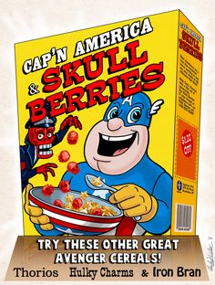 Cap'n America cereal box by andyjhunter on DeviantArt