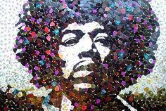 Pena ile Jimi Hendrix Mozaiği - Ed Chapman