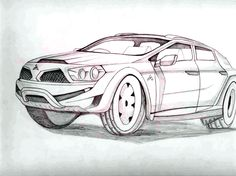 Cool Pencil Drawings Of Cars Cool easy penc