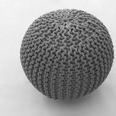 Fotoliu Pouf Bakero Cool Silver puf gri Crochet Hats, Cool Stuff, Outdoor Decor, Silver, Furniture, Home Decor, Black, Knitting Hats, Decoration Home