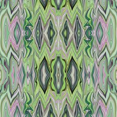 IP 2 Marble Chevrons - lavender and green, large scale,  half drop repeat fabric by maryyx on Spoonflower - custom fabric