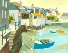 Richard-Tuff Prints - King Charles to the Bosun's Locker Landscape Art, Landscape Paintings, Illustrations, Illustration Art, Costa, Boat Painting, Watercolor Images, Commercial Art, Coastal Art