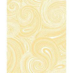 York Wallcoverings 56 sq. ft. Paisley Swirl Wallpaper-AP7475 - The Home Depot  (inside bookcases)
