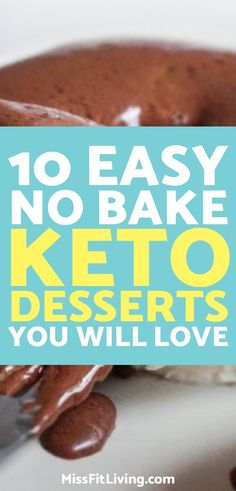 Looking for keto desserts? These 10 keto desserts will keep you in ketosis while also simmering down your sweet tooth. Desserts Keto, Easy No Bake Desserts, Keto Snacks, Dessert Recipes, Keto Foods, Desserts Diy, Holiday Desserts, Low Carb Dessert, Low Carb Sweets